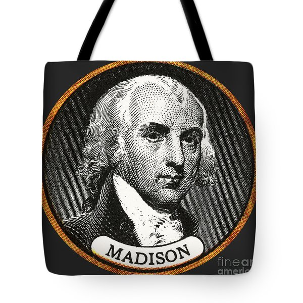 James Madison, 4th American President Tote Bag by Photo Researchers