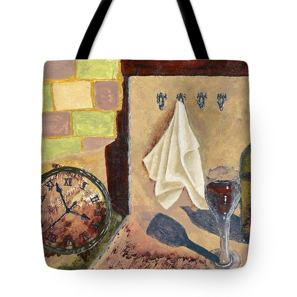 Kitchen Collage Tote Bag by Susan Schmitz