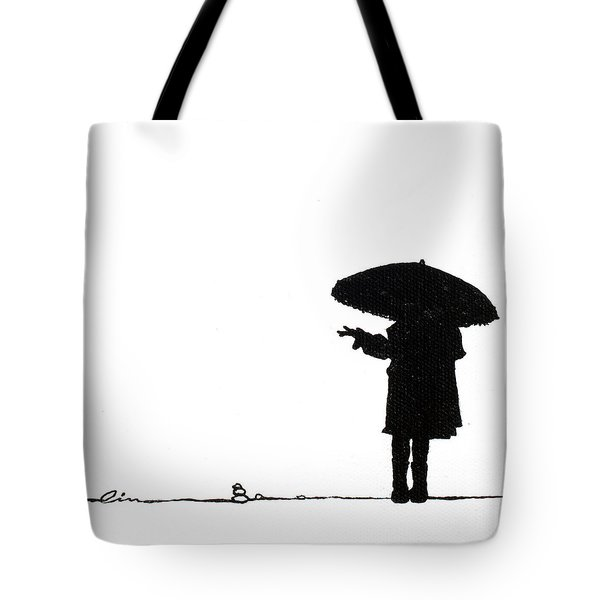 Little Girls On Little Canvas Tote Bag by Cindy D Chinn