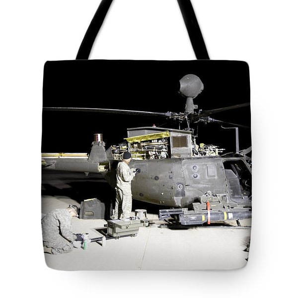 Maintenance Crew Works On Servicing Tote Bag by Terry Moore