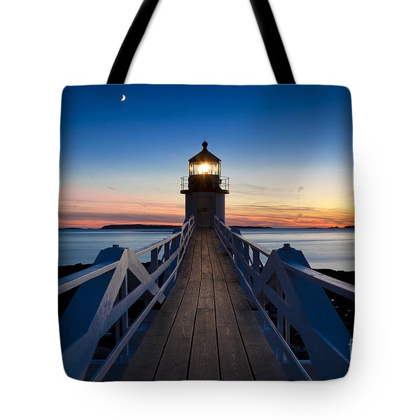 Marshall Point Light Tote Bag by Brian Jannsen