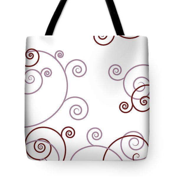 Pink And Red Abstract Tote Bag by Frank Tschakert