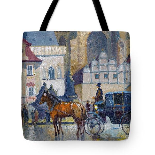 Prague Old Town Square 01 Tote Bag by Yuriy  Shevchuk