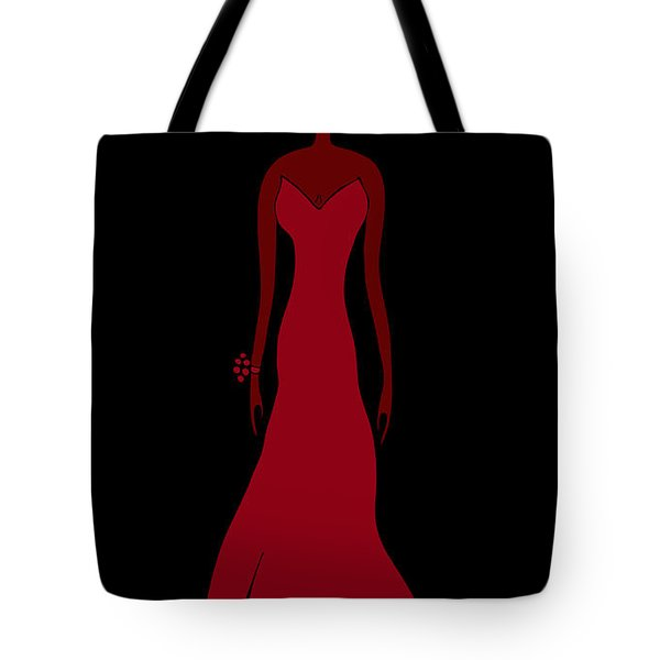 Red Dress Tote Bag by Frank Tschakert