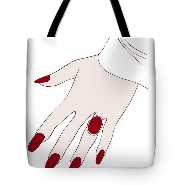 Ring Finger Tote Bag by Frank Tschakert