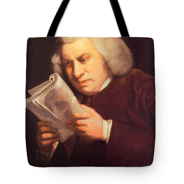 Samuel Johnson, English Author Tote Bag by Photo Researchers