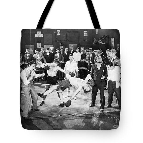 Silent Film Still: Boxing Tote Bag by Granger