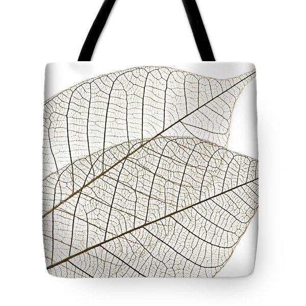 Skeleton leaves Tote Bag by Elena Elisseeva