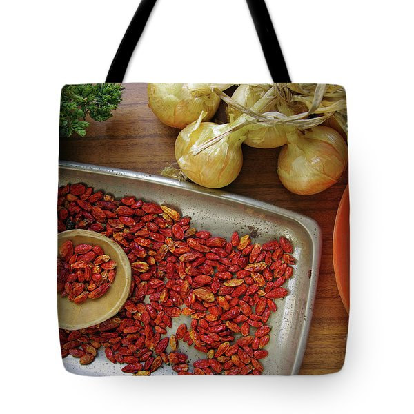 Spicy still life Tote Bag by Carlos Caetano