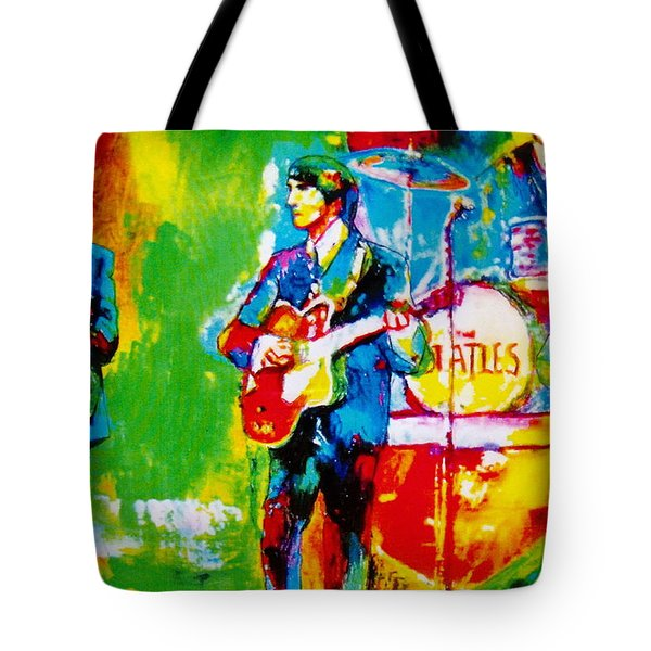 The Beatles Tote Bag by Leland Castro