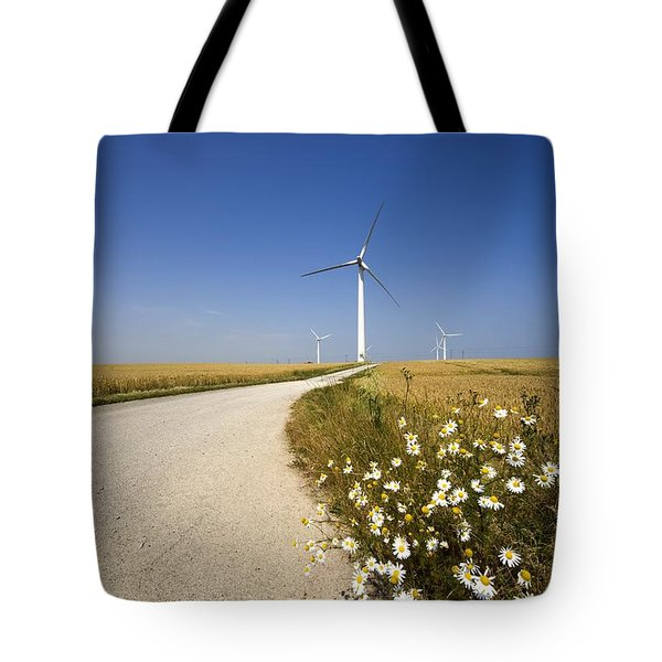 Wind Turbine, Humberside, England Tote Bag by John Short