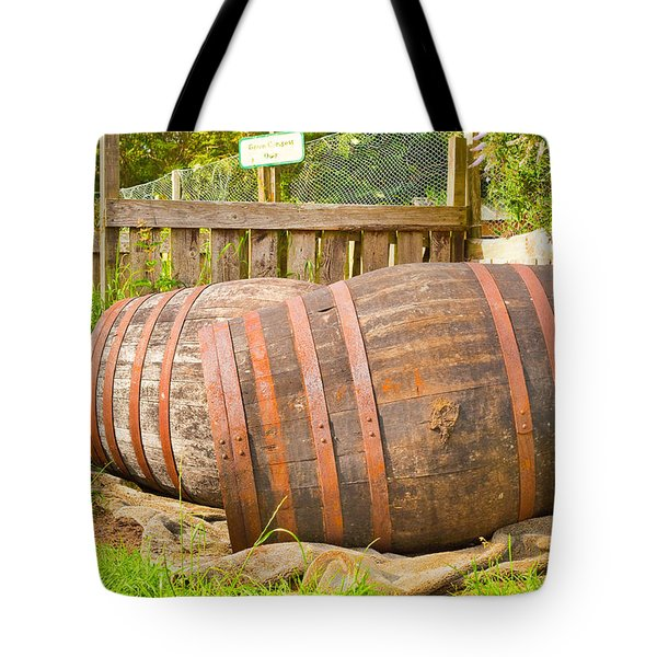 Wooden Barrels Tote Bag by Tom Gowanlock