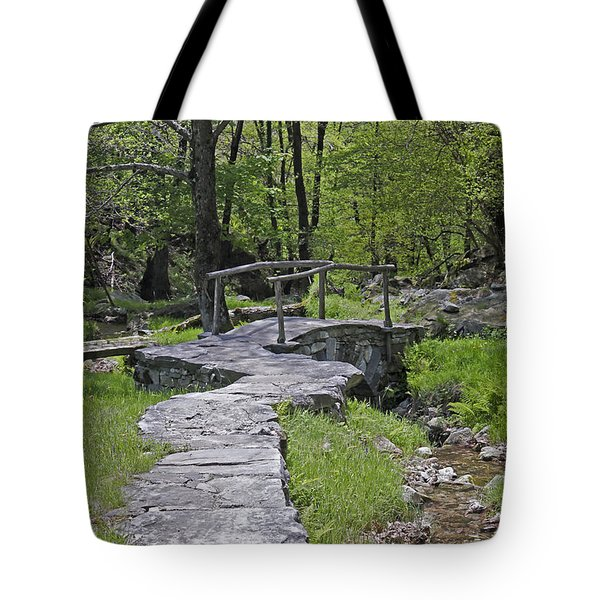 Wooden Bridge Tote Bag by Joana Kruse
