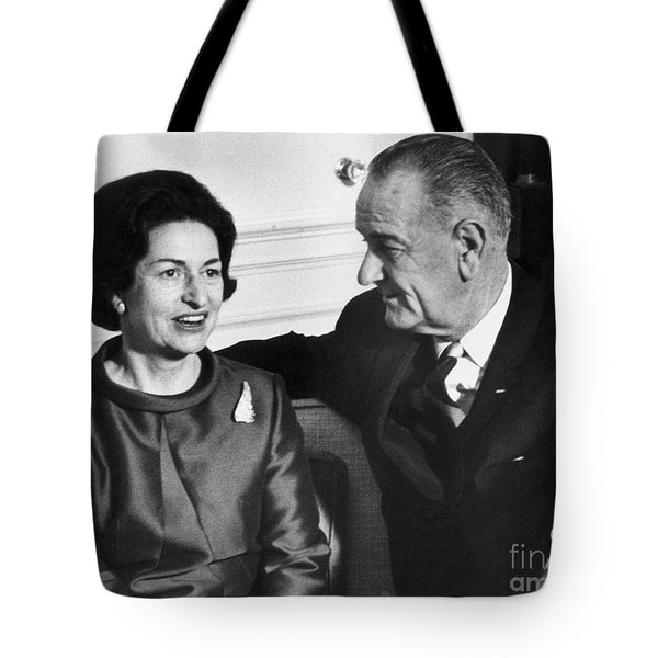 Lyndon Baines Johnson Tote Bag by Granger