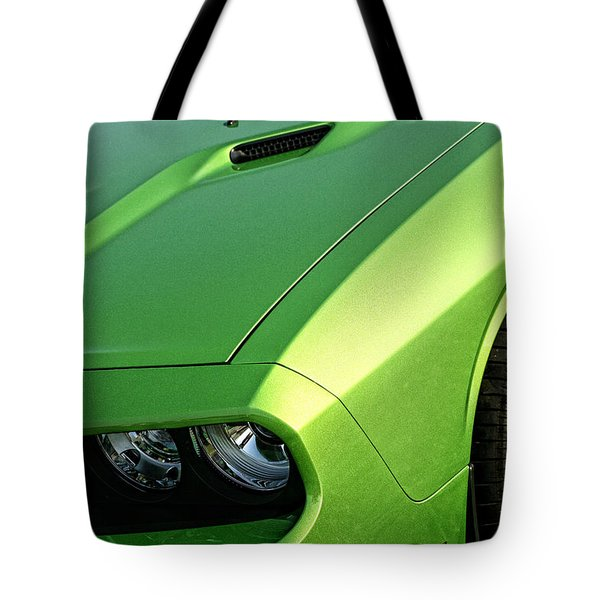 2011 Dodge Challenger Srt8 - Green With Envy Tote Bag by Gordon Dean II