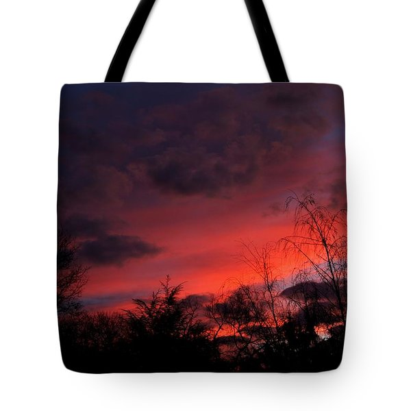 2012 Sunrise In My Back Yard Tote Bag by Paul SEQUENCE Ferguson             sequence dot net