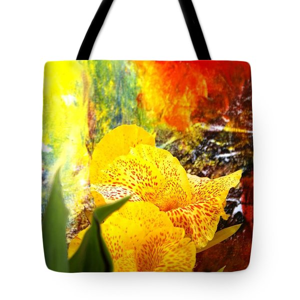 FLOWERS AND ART Tote Bag by Geegee W