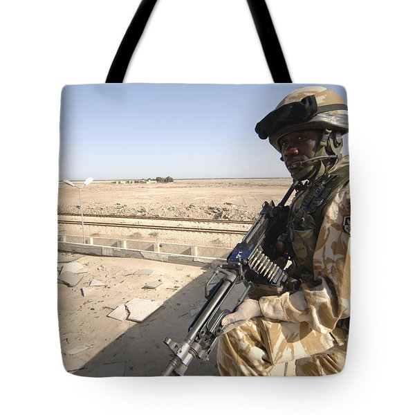 A British Army Soldier Provides Tote Bag by Andrew Chittock
