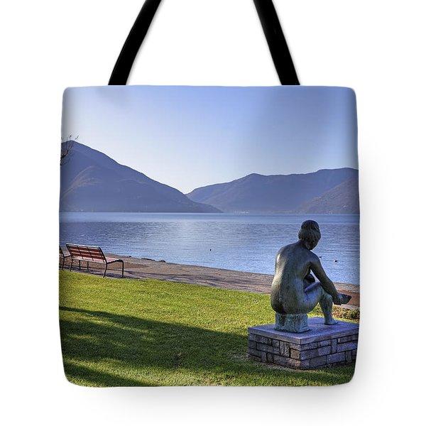 Ascona - Lake Maggiore Tote Bag by Joana Kruse