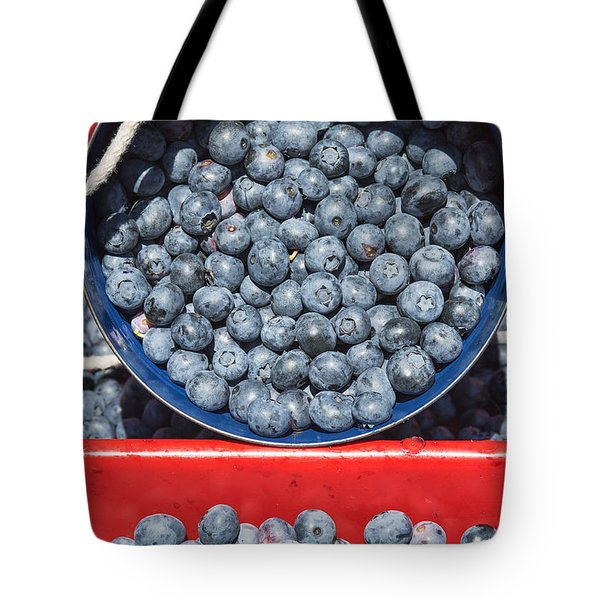 Blueberry Harvest Tote Bag by John Greim