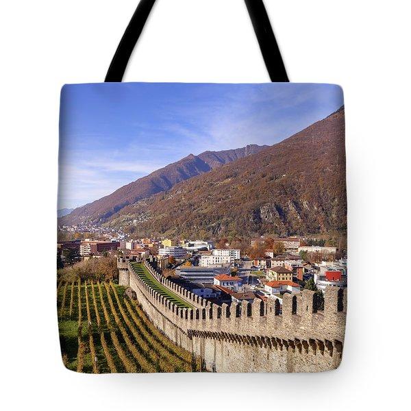 Castelgrande - Bellinzona Tote Bag by Joana Kruse