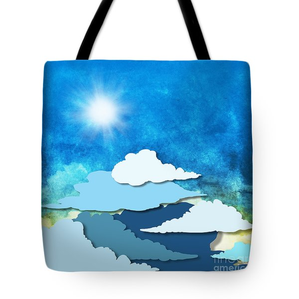 Cloud And Sky Tote Bag by Setsiri Silapasuwanchai