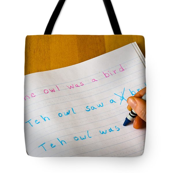 Dyslexia Testing Tote Bag by Photo Researchers, Inc.