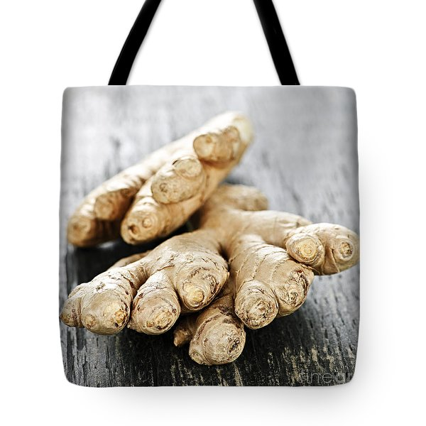 Ginger Root Tote Bag by Elena Elisseeva