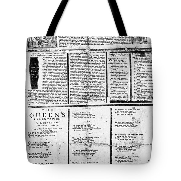 Louis Xvi: Execution, 1793 Tote Bag by Granger