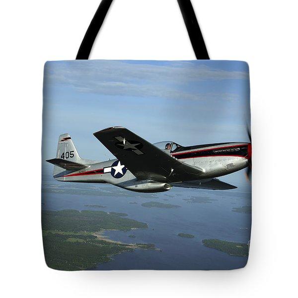 North American P-51 Cavalier Mustang Tote Bag by Daniel Karlsson