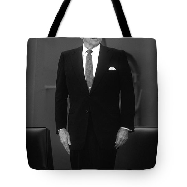 President Ronald Reagan Tote Bag by War Is Hell Store