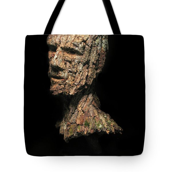 Revered  A Natural Portrait Bust Sculpture By Adam Long Tote Bag by Adam Long