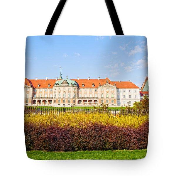 Royal Castle In Warsaw Tote Bag by Artur Bogacki