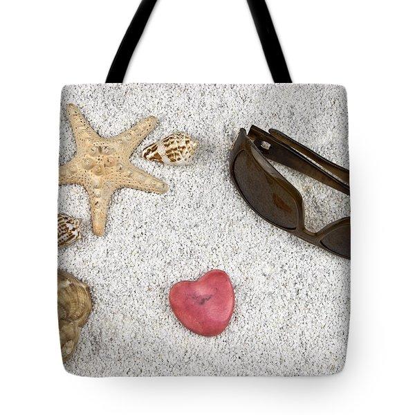 seastar and shells Tote Bag by Joana Kruse
