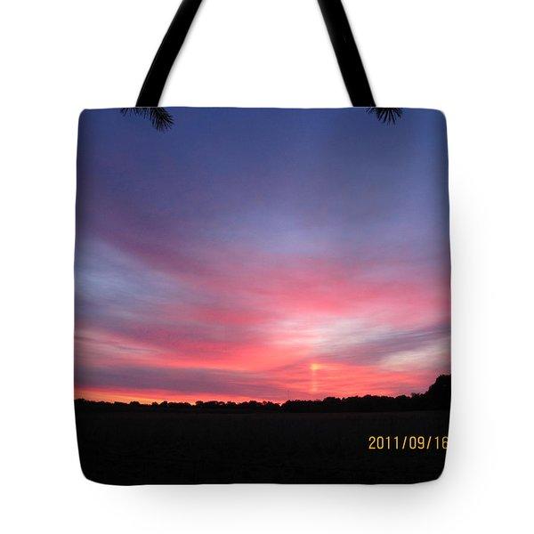 September 16 Sunrise Tote Bag by Tina M Wenger
