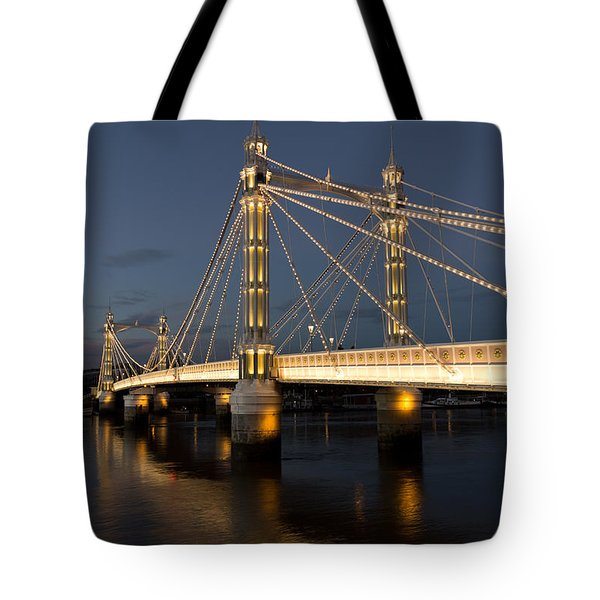 The Albert Bridge London Tote Bag by David Pyatt