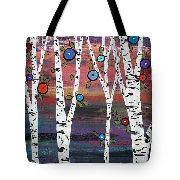 4 Birches Tote Bag by Karla Gerard