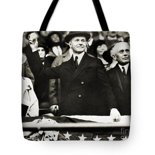 Calvin Coolidge (1872-1933) Tote Bag by Granger
