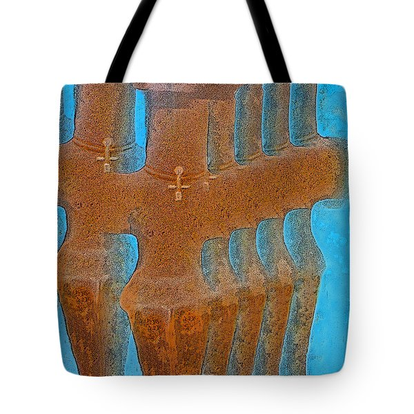 Cyprus Idol of Pomos Tote Bag by Augusta Stylianou