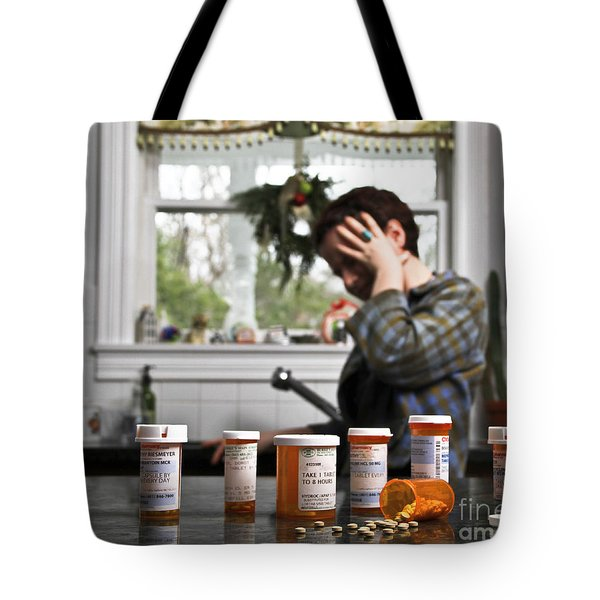 Depression And Addiction Tote Bag by Photo Researchers, Inc.