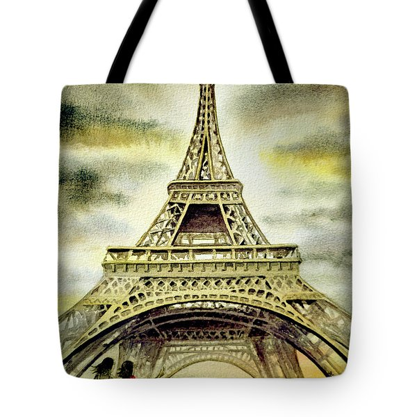 Eiffel Tower Paris Tote Bag by Irina Sztukowski