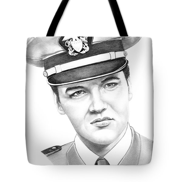 Elvis Presley Tote Bag by Murphy Elliott