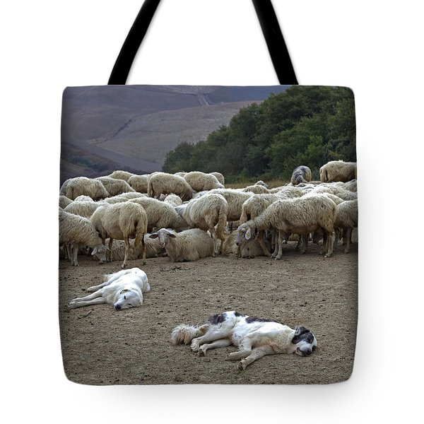flock of sheep Tote Bag by Joana Kruse