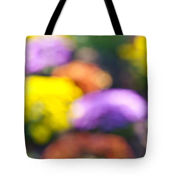 Flower garden in sunshine Tote Bag by Elena Elisseeva