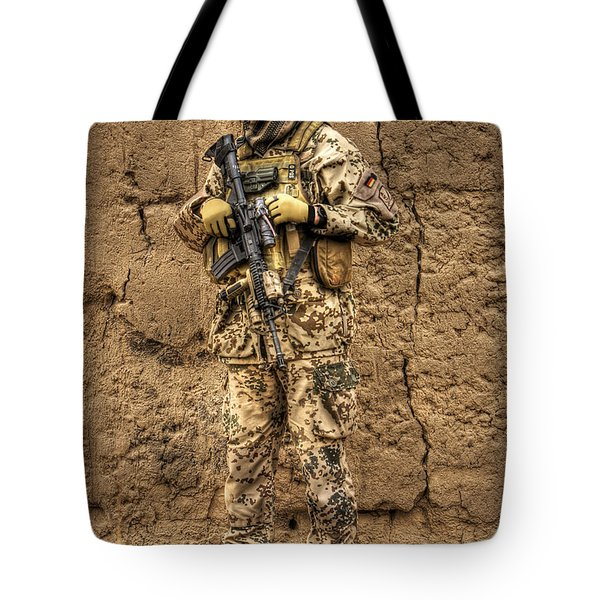 Hdr Image Of A German Army Soldier Tote Bag by Terry Moore