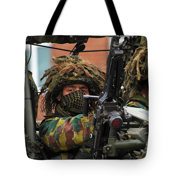 Members Of A Recce Or Scout Team Tote Bag by Luc De Jaeger