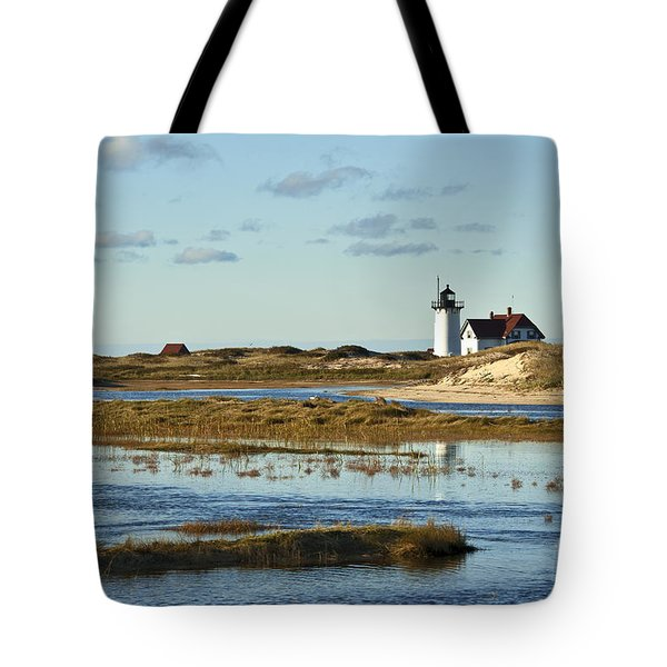 Race Point Lighthouse Tote Bag by John Greim