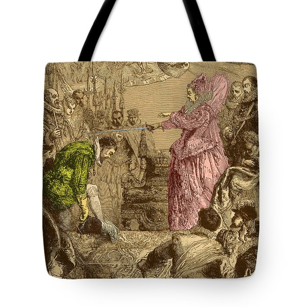 Sir Francis Drake, English Explorer Tote Bag by Photo Researchers
