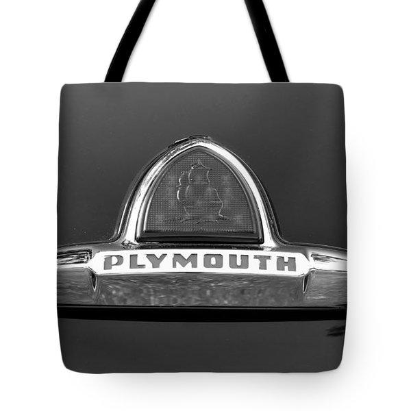 49 Plymouth Emblem Tote Bag by David Lee Thompson