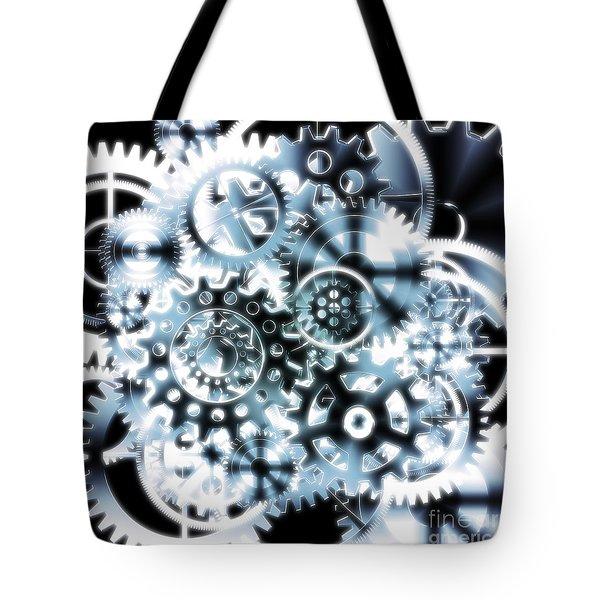 gears wheels design  Tote Bag by Setsiri Silapasuwanchai